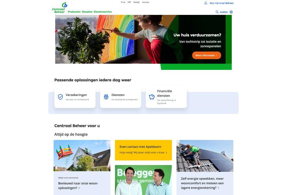 Website Centraal Beheer Apeldoorn