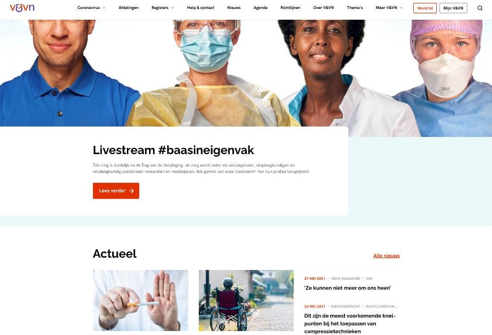 Website V&VN Nederland
